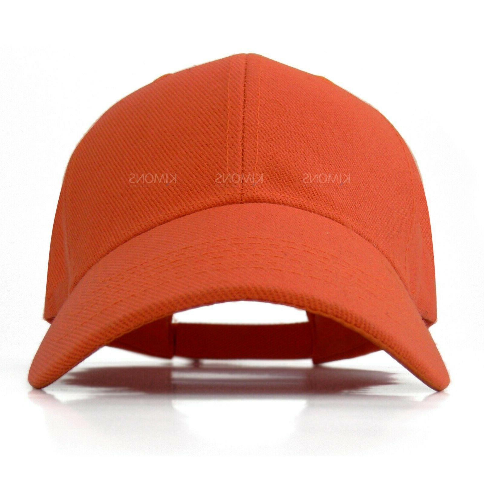 Loop Plain Baseball Solid Visor Hat Men