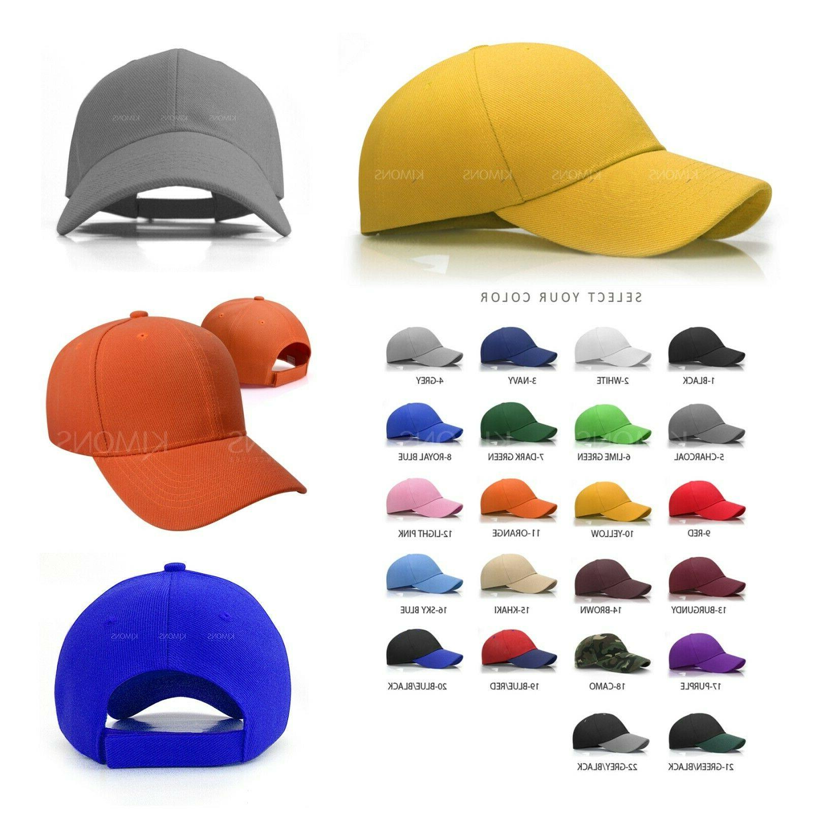 Plain Cap Blank Color Army Hat Ball Women Curved