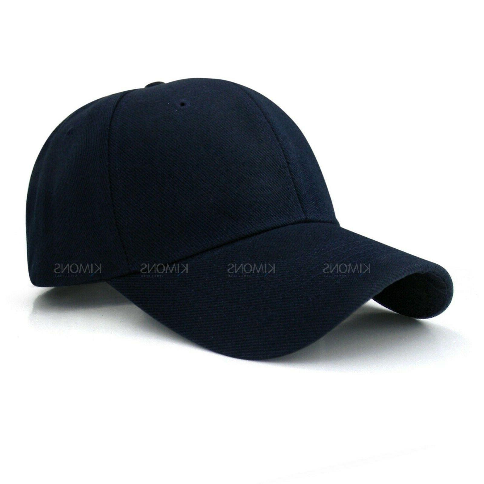 Loop Baseball Cap Solid Blank Visor Men