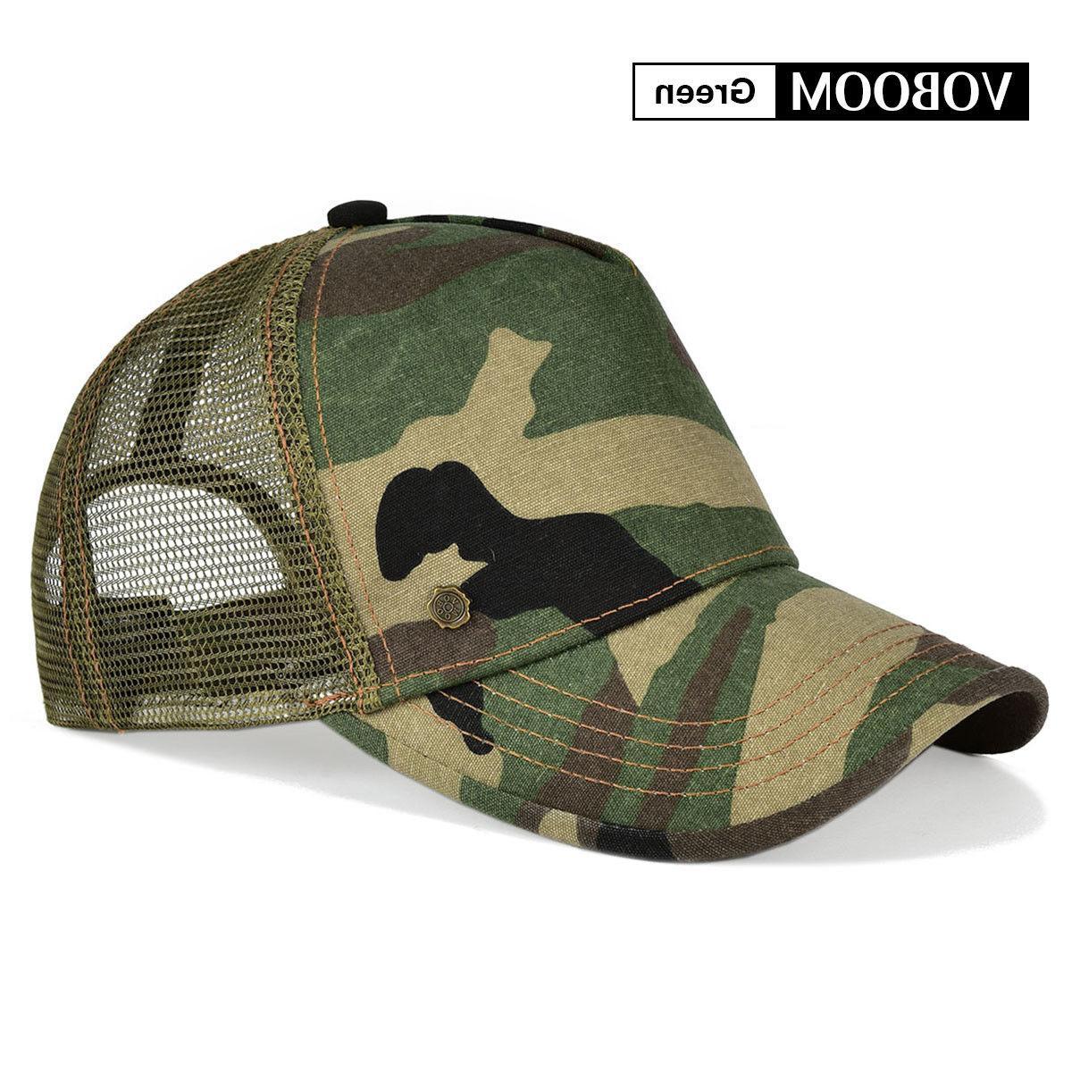 VOBOOM Men Baseball Cap Trucker Hat Mesh Breathable Snapback