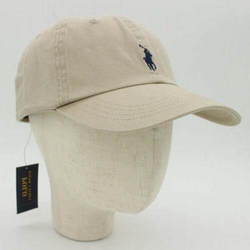 RL Men Embroidered Cotton Chino Baseball Hat US