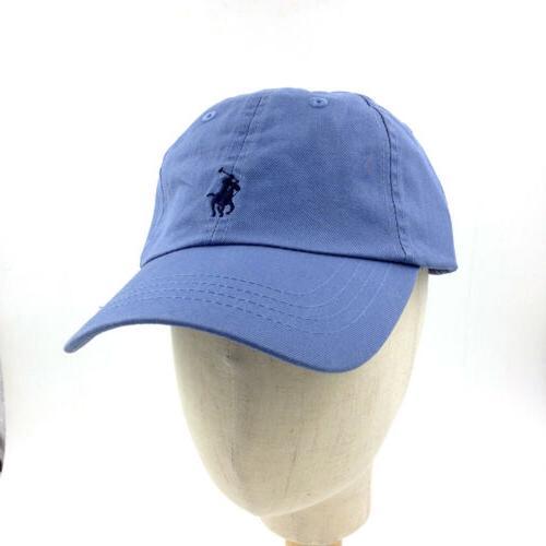 RL Polo Men Embroidered Pony Chino Baseball Hat US