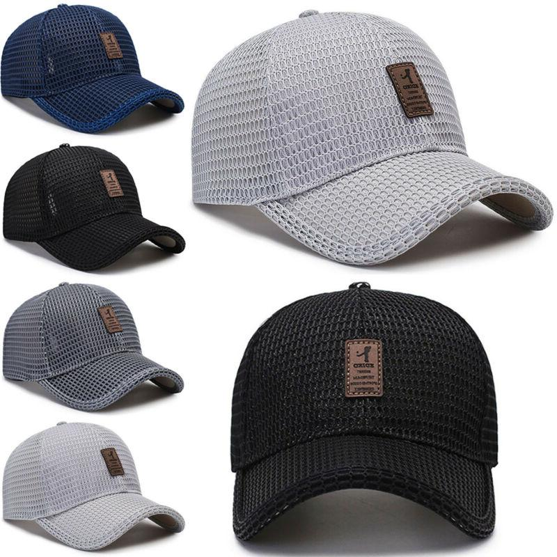 Men's Cap Hat Mesh Plain Hats Caps