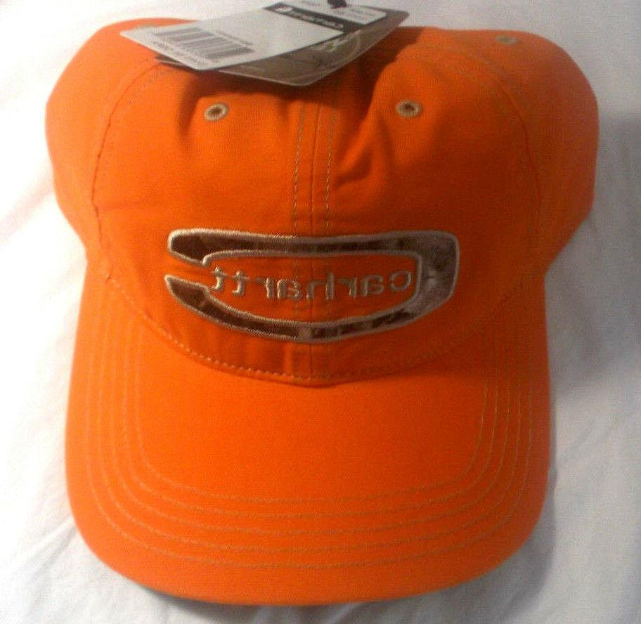 Carhartt Men's Cedarville Baseball Cap Hat Orange OSFA 100%