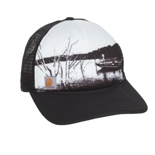 Carhartt Men's Hartley Hat Black White Mesh Fishing Snapback