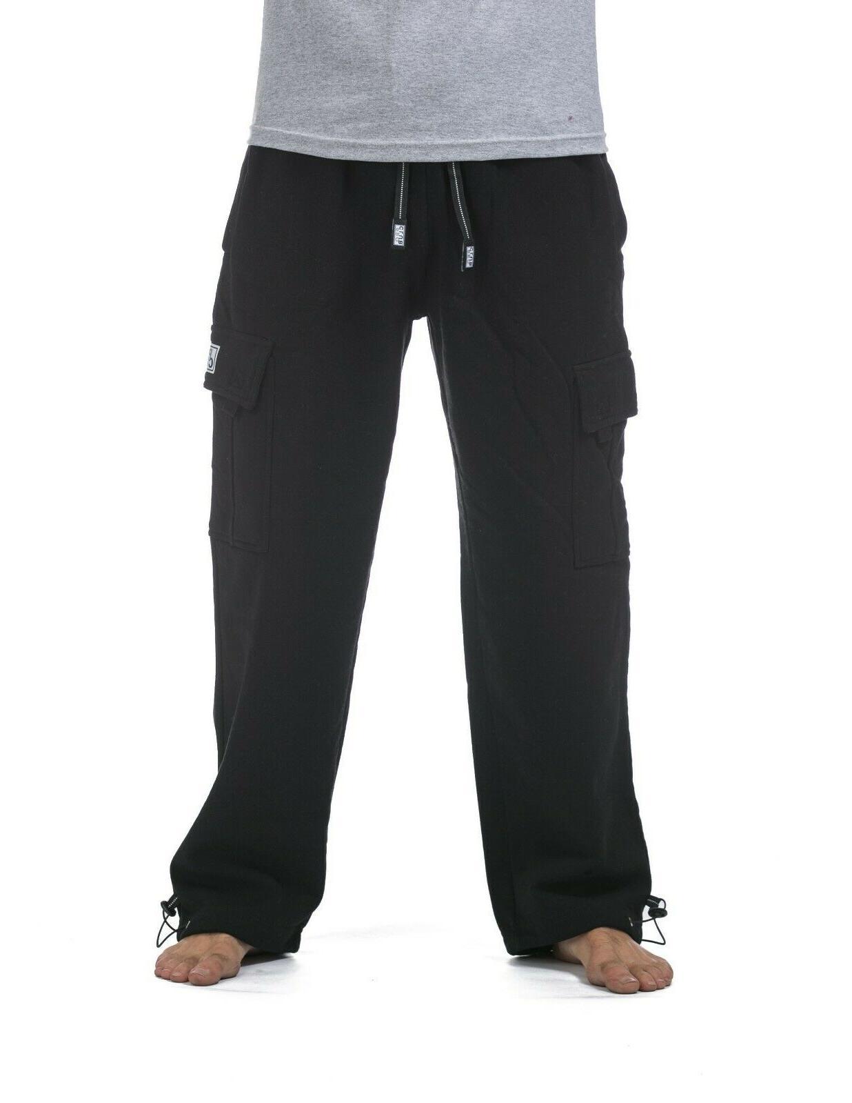 men s heavyweight fleece cargo pants
