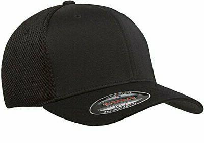 men s ultrafibre airmesh fitted cap black