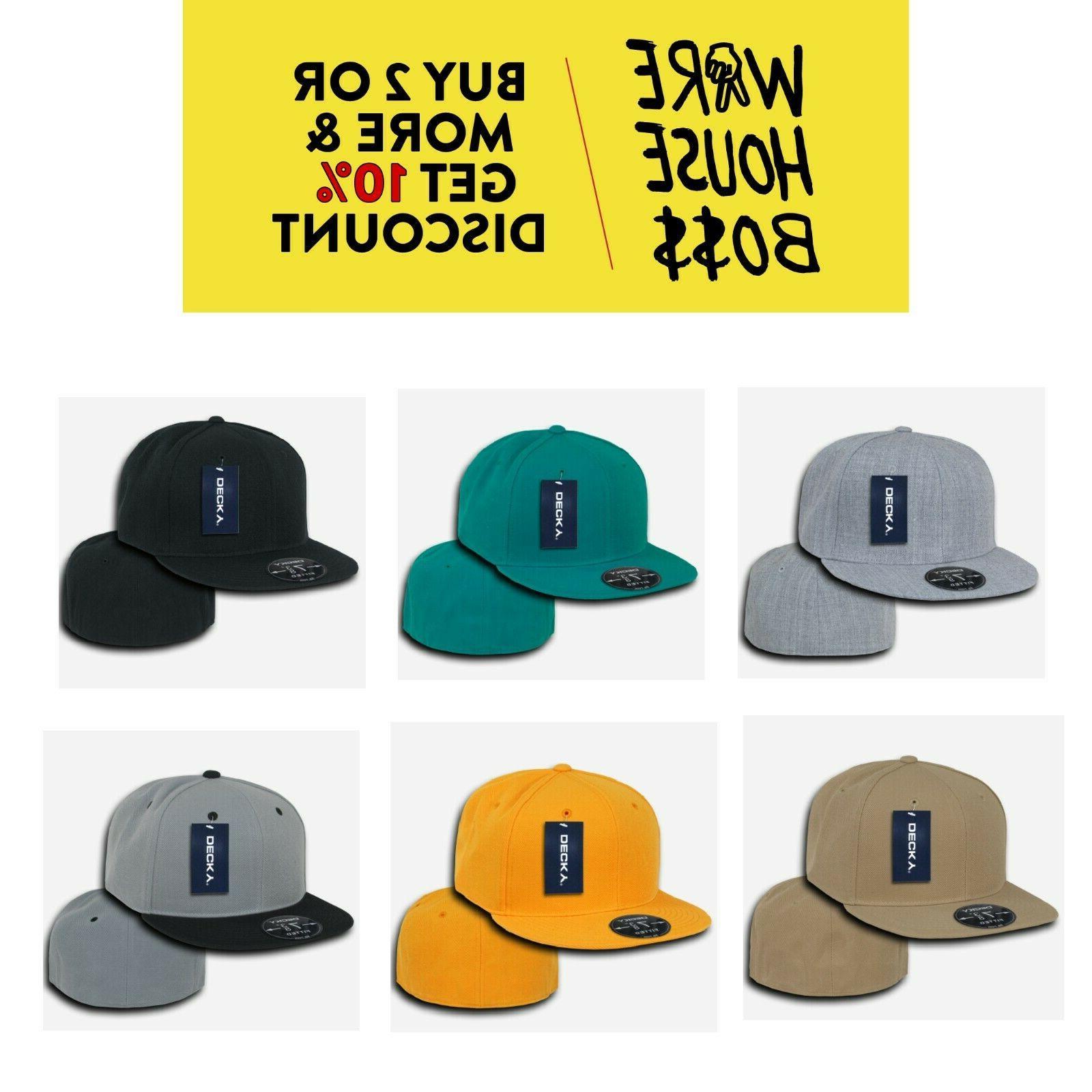 DECKY RP1 MEN'S CASUAL HAT FLAT-BILL BASEBALL CAP PLAIN FITT