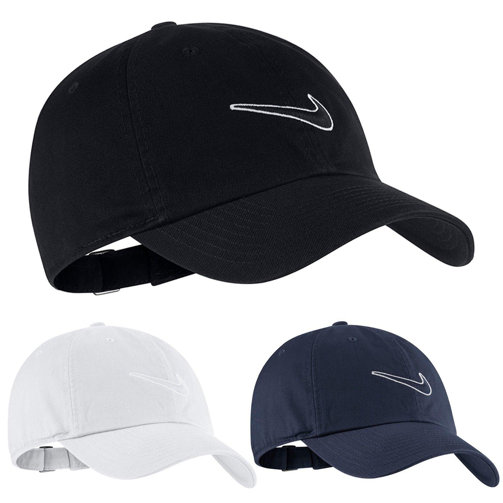 Nike Mens Swoosh Heritage86 Sports Peak Cap Baseball Hat Log