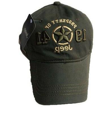 New 1941 Army Green Jeep Hat Cap Women Men Unisex baseball G