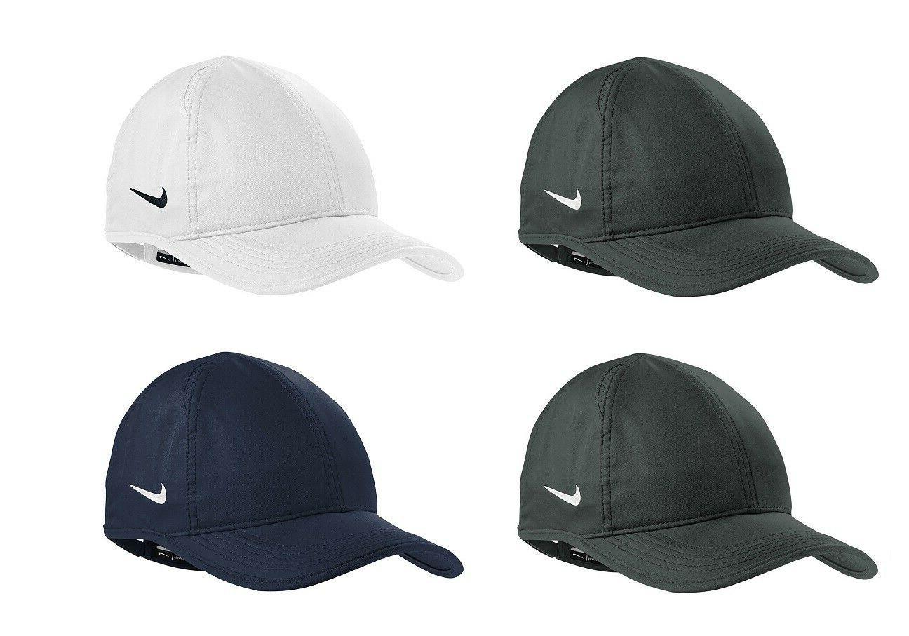 new featherlite hat swoosh dri fit adjustable