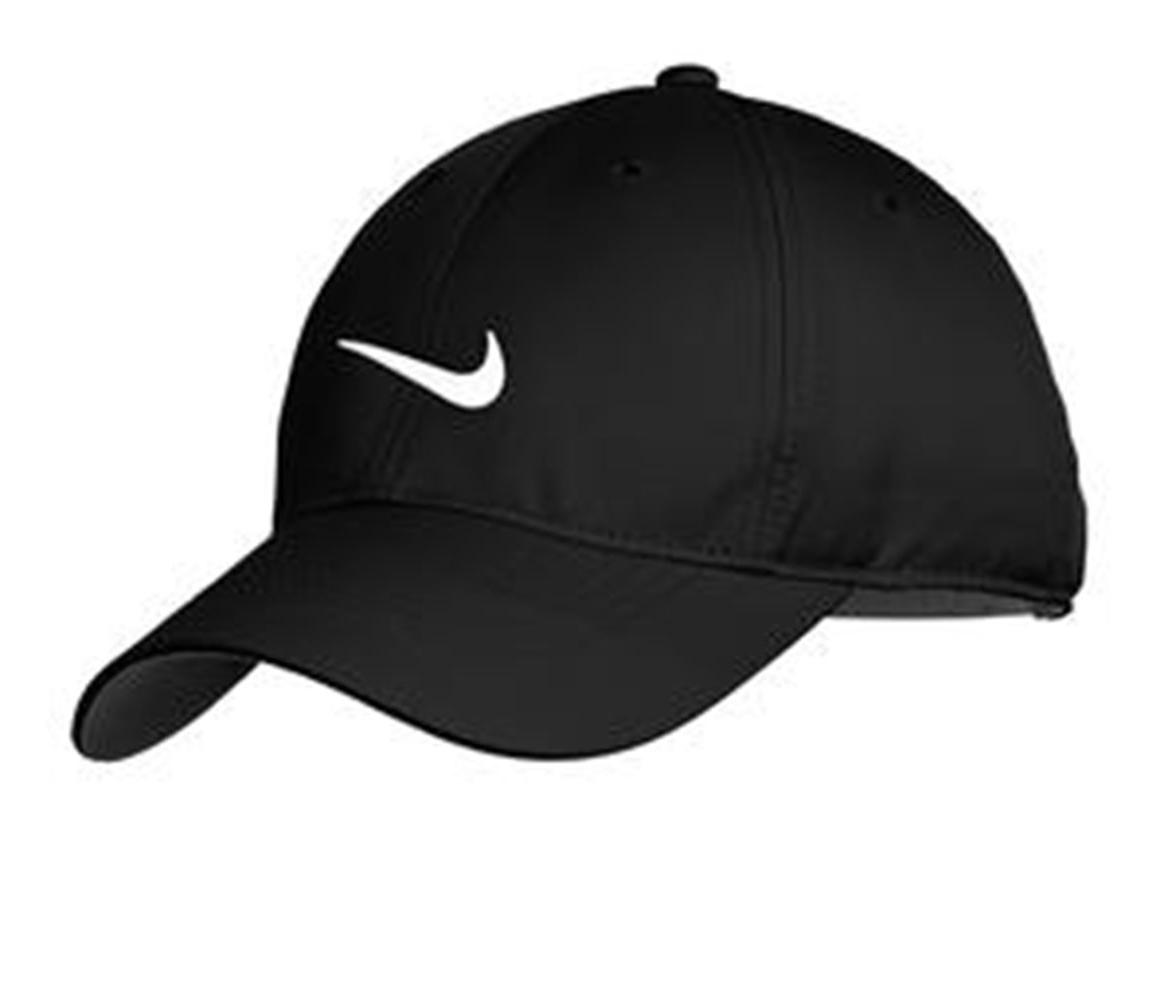 bf32da481547f NEW NIKE HAT-BLACK WITH WHITE SWOOSH-DRI-FIT-BASEBALL CAP-