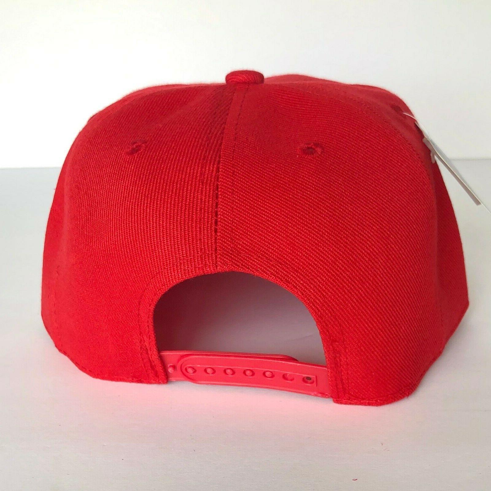 NEW Mens Cap Hat Red Adjustable