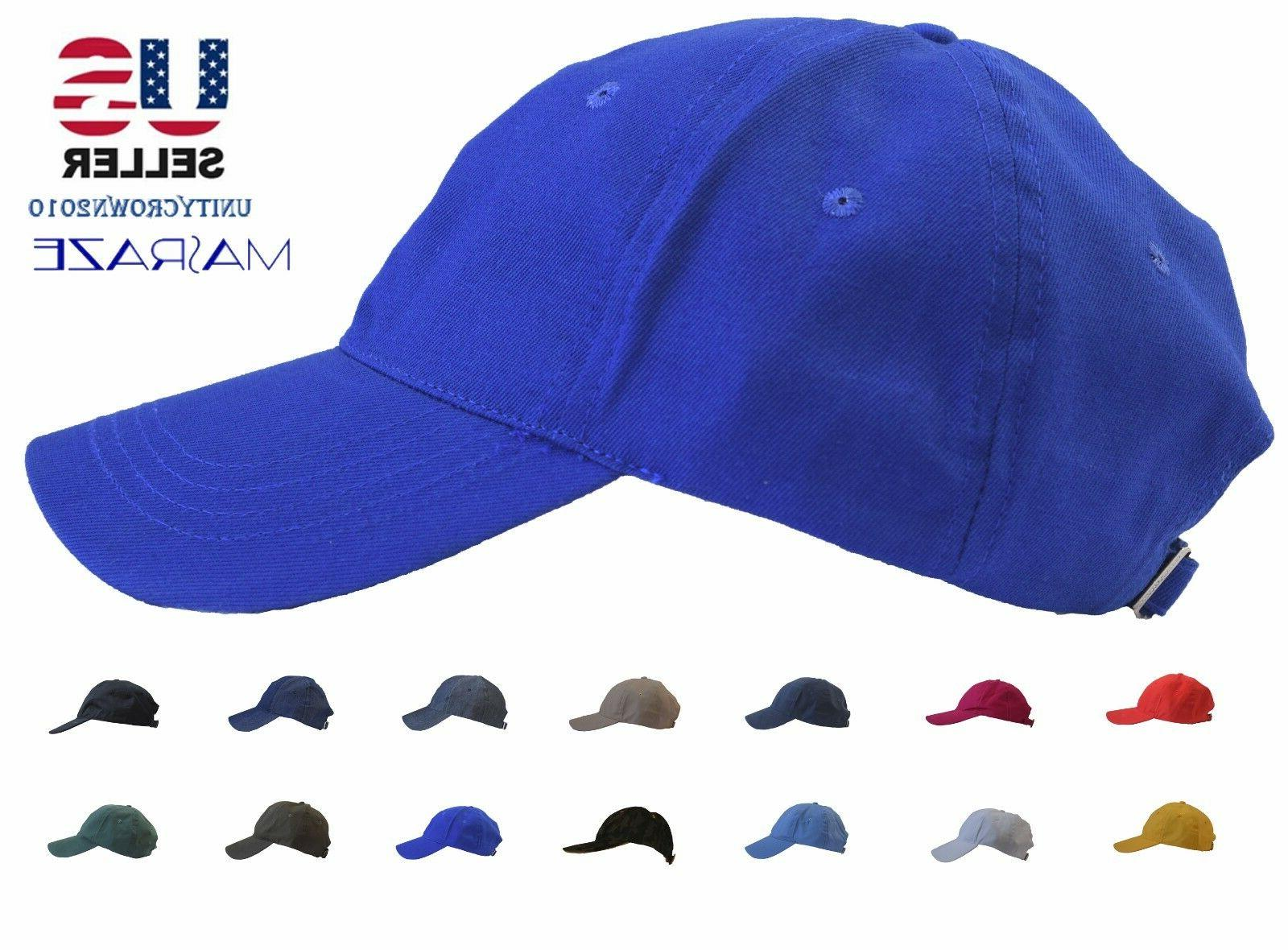 new plain solid cotton baseball ball cap