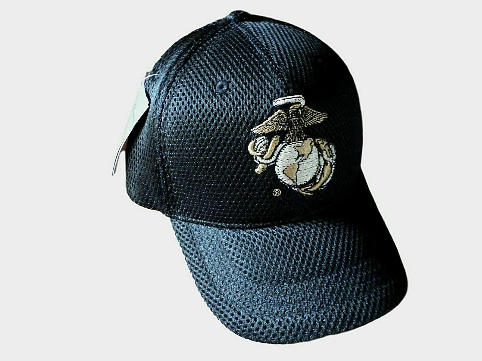 New U.S Military Marine Corps Hat Air Mesh 3-D Embroidered U