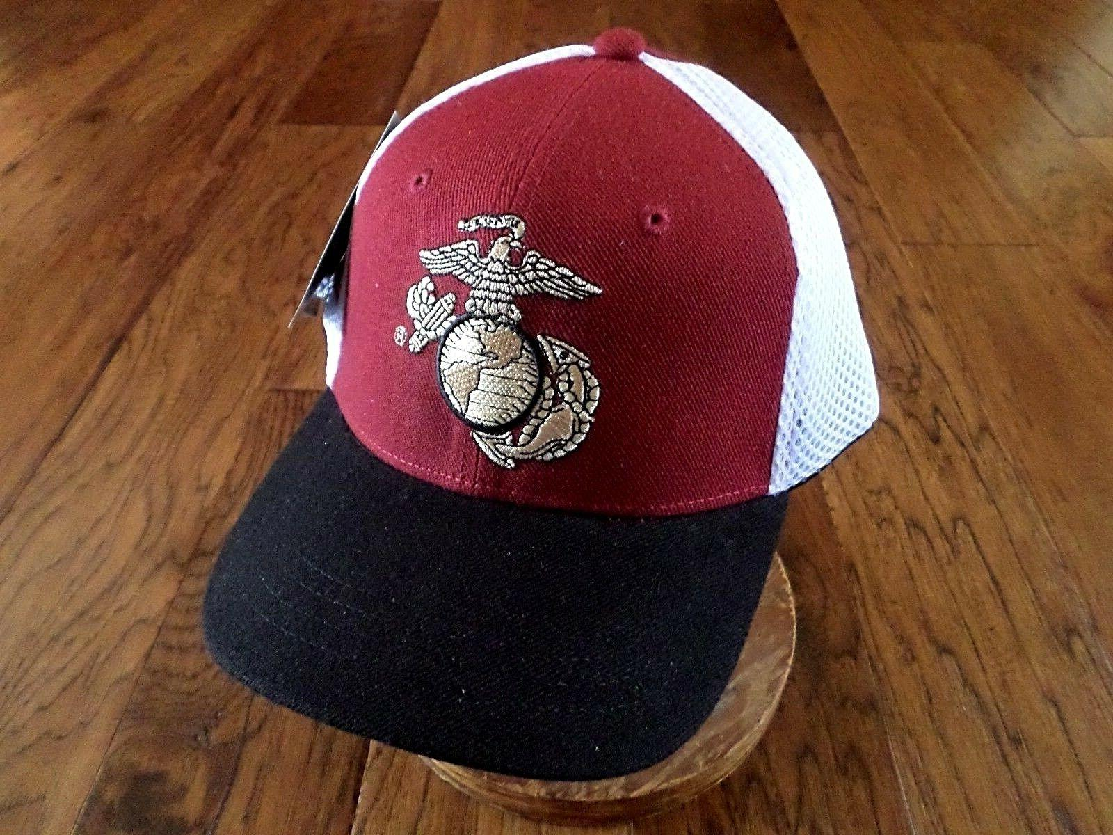 New U.S Military Marine Corps Hat Deluxe Mesh 3-D Embroidere