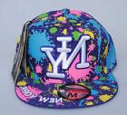 New York NY City Hunter Purple Paint Splash Hat Fitted Flat