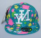 new york ny teal paint splash hat