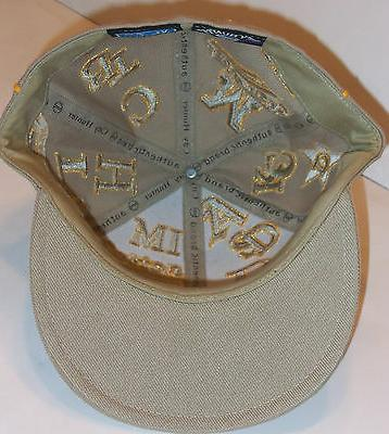 NWT WITH GOLD METALLIC BASEBALL HAT 3/4
