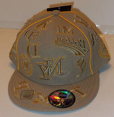 nwt beige with gold metallic novelty baseball