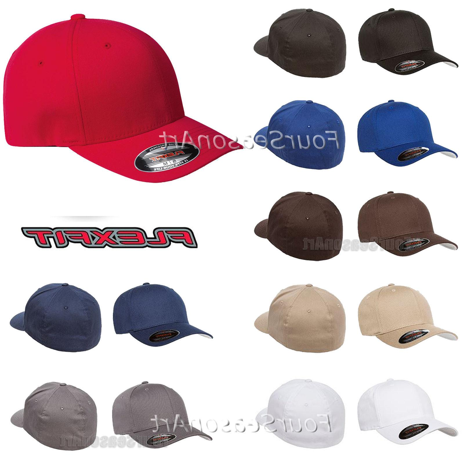 Original Flexfit Fitted Baseball Hat Wooly Combed Twill Cap