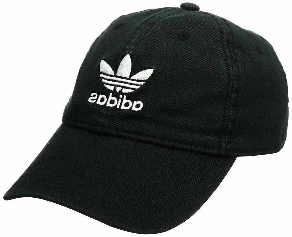 Adidas Originals Strapback Hat 100% Black Cap