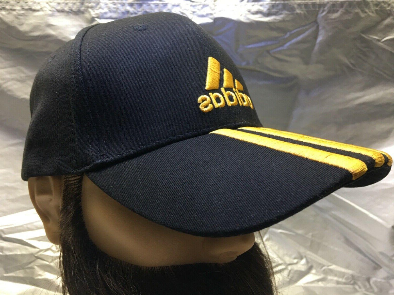 ADIDAS Cap Black w/Gold Emblem Dad Hat