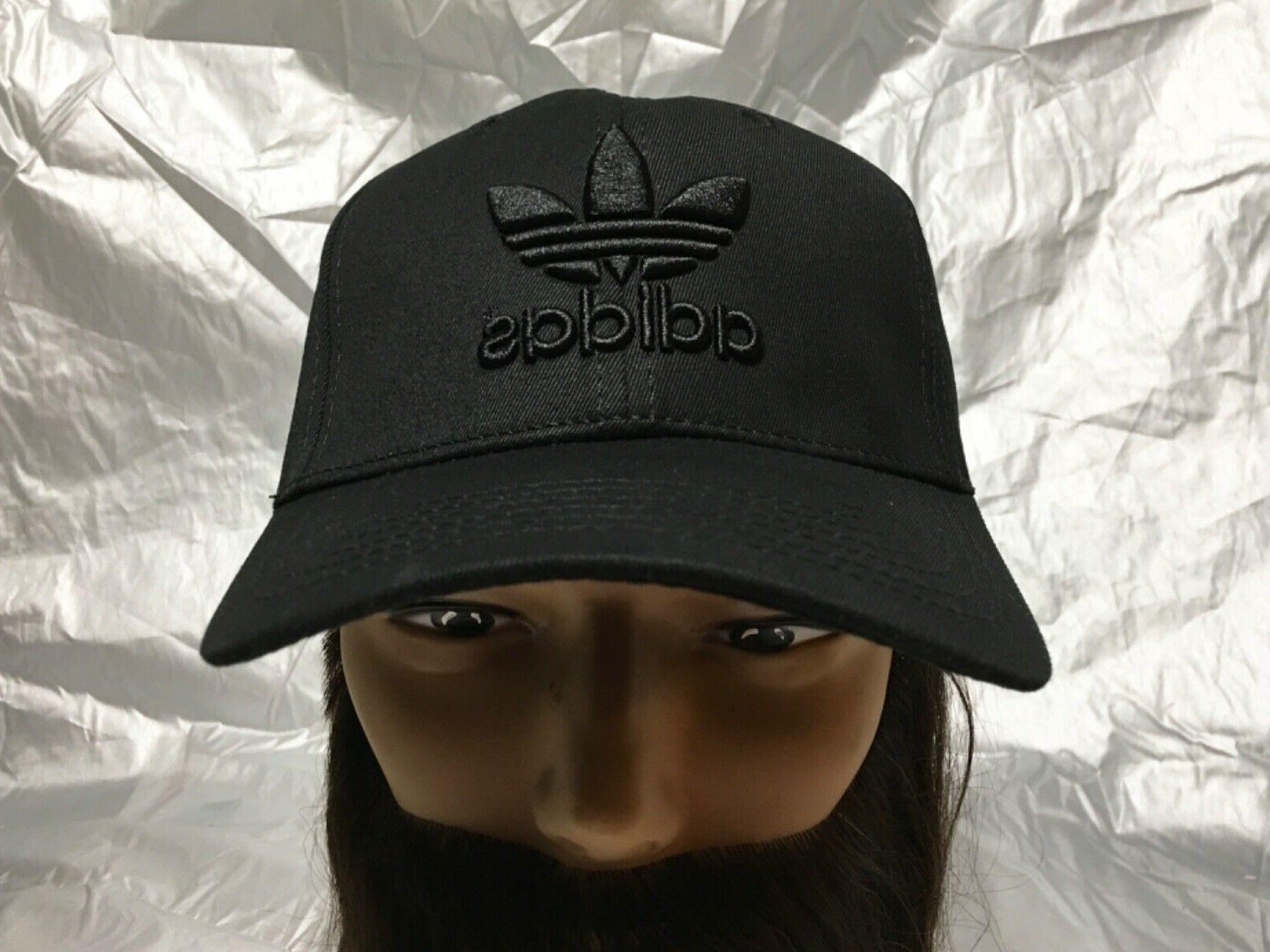 the best attitude 35285 9b496 ADIDAS Originals Strapback Trefoil Black Baseball Hat Cap Ca