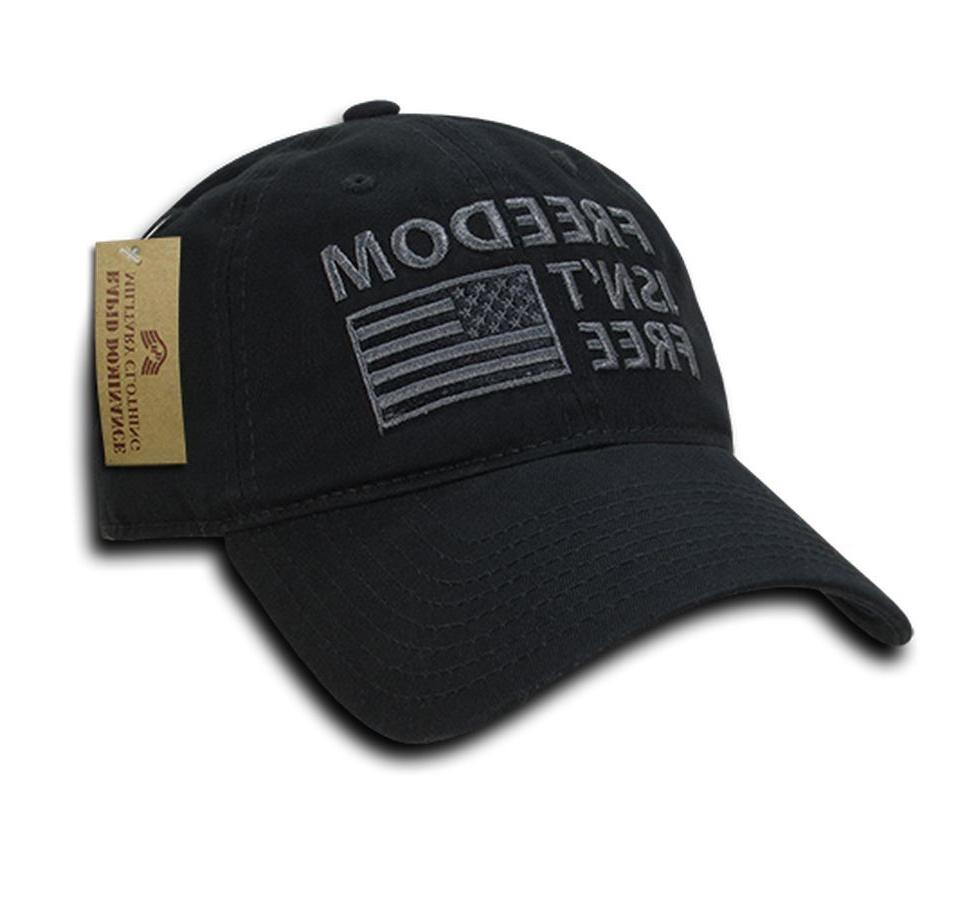 Rapid Dominance USA American Flag Dad Caps