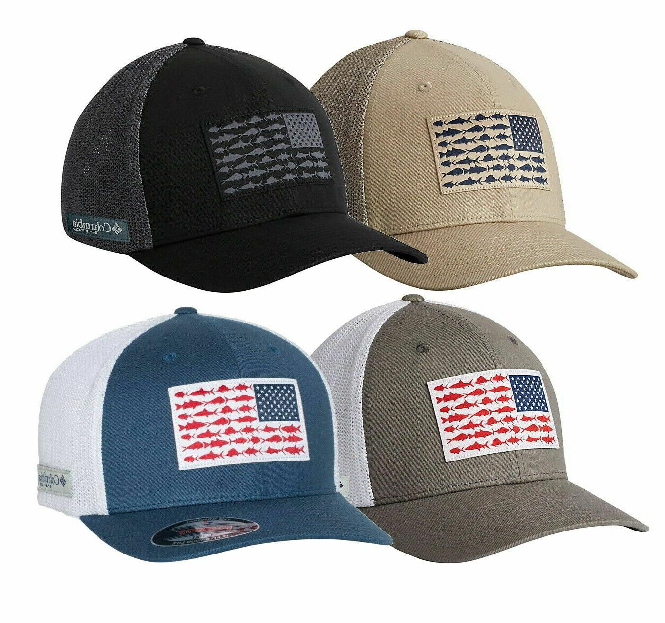 COLUMBIA PFG MESH HAT, FLEXFIT CAP, FITTED, Size S/M, L/XL,