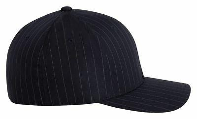 Flexfit Pinstripe Fitted Baseball Blank Plain Hat Ballcap Ca