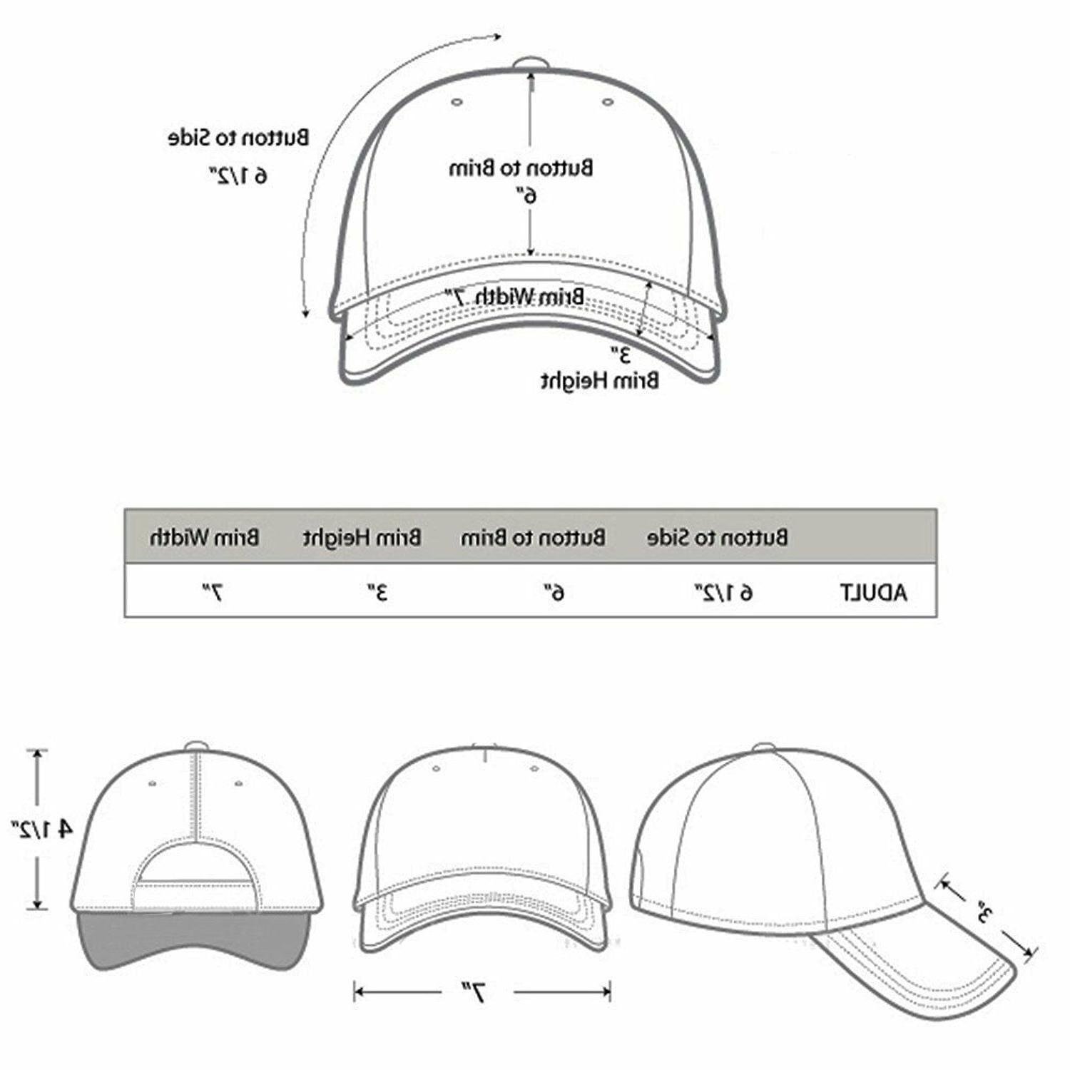Plain Blank Adjustable Baseball Hats