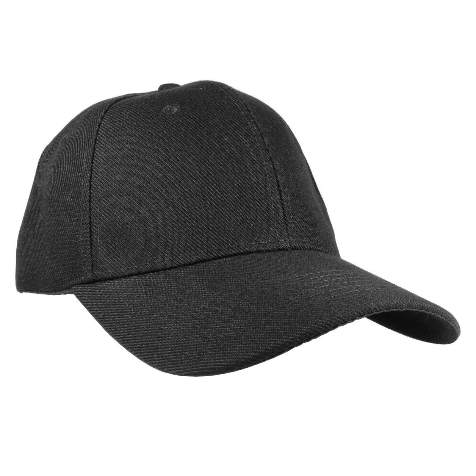 Plain Solid Baseball Cap Hats wholesale lot 12pcs