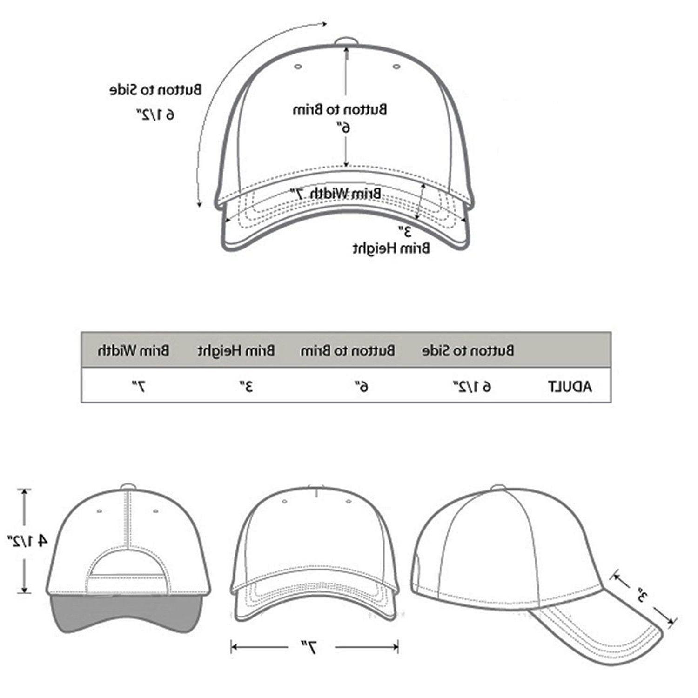 Plain Blank Adjustable Baseball Hats