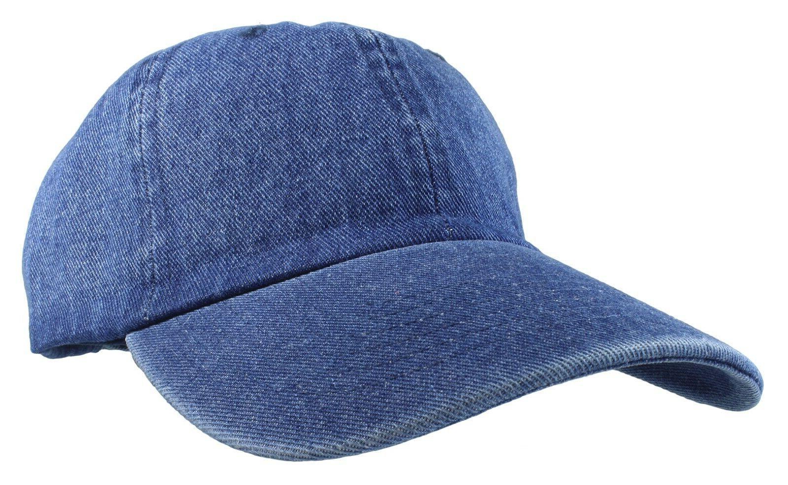 Gelante Plain denim Adjustable Baseball Caps Jean Dad Hats W