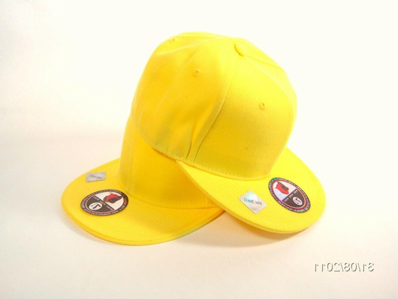 Plain FITTED Cap Blank Baseball Solid Pit Hat