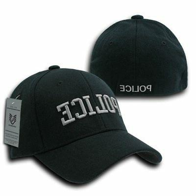 police law enforcement flex fit baseball hat