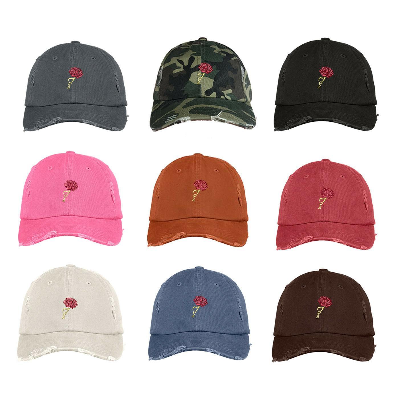 ROSE LOVE Dad Hat Embroidered Floral Cap - Many Colors