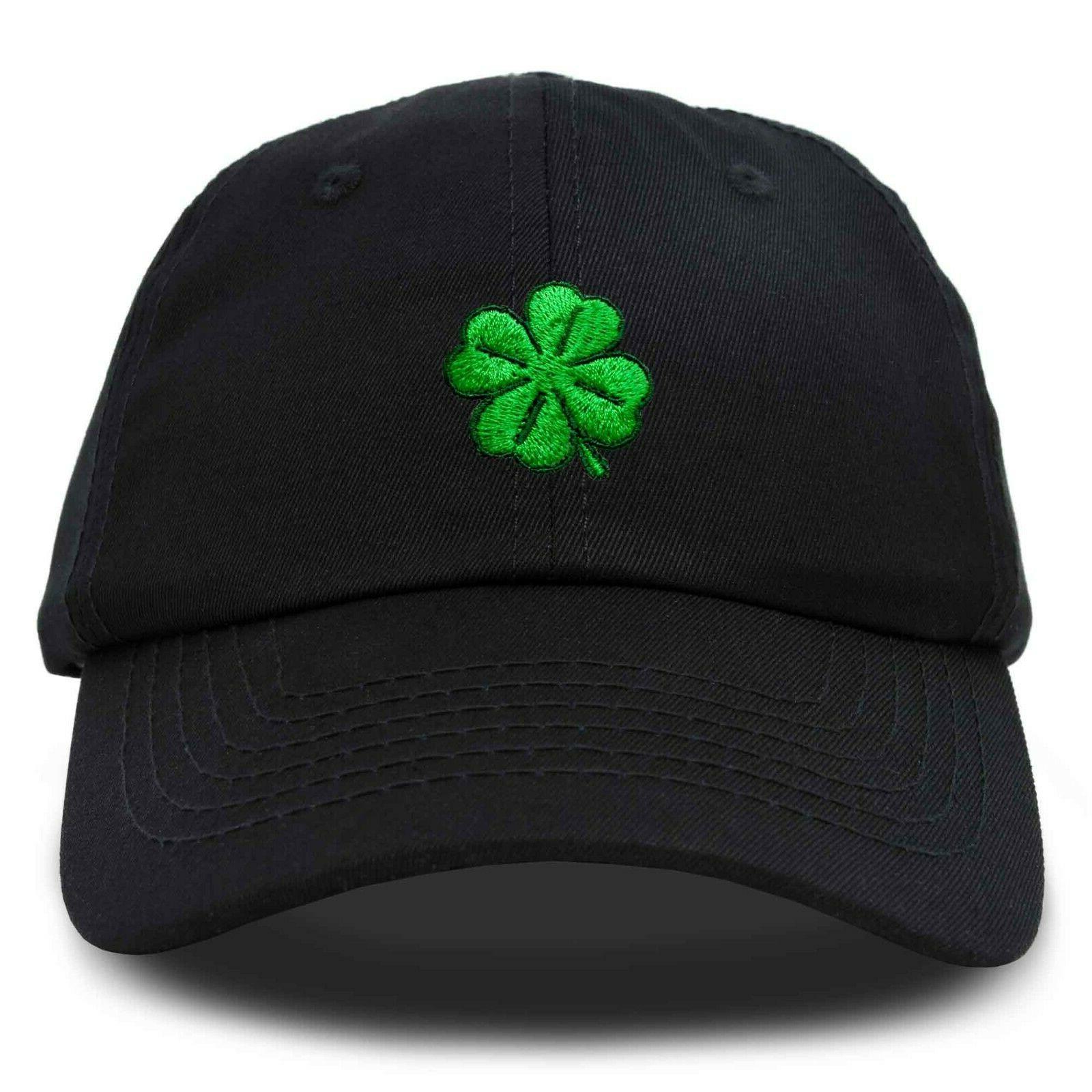 DALIX Shamrock Hat Baseball Cap Green Black Hats St Patricks