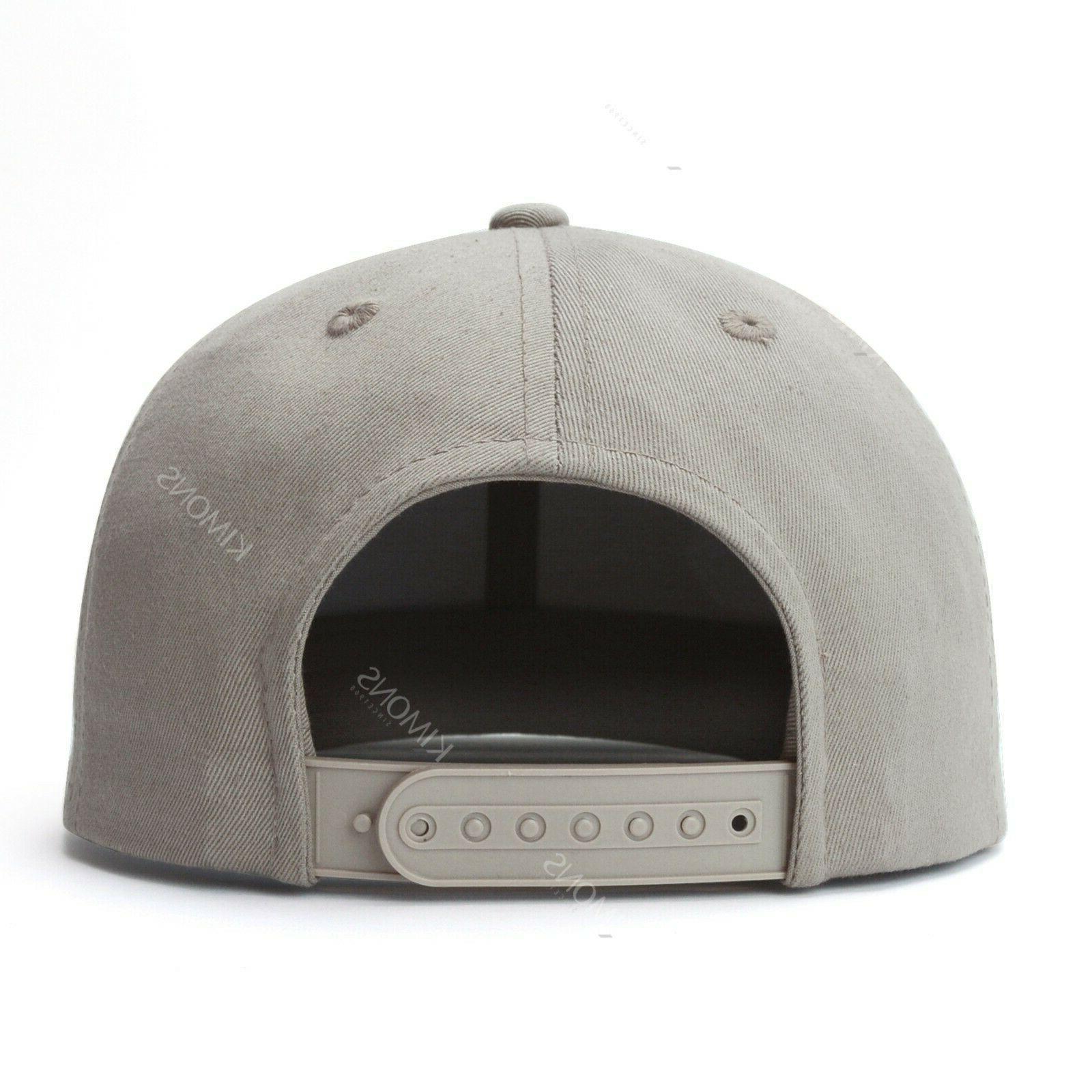 Snapback Hat Flat Trucker Solid Plain Blank Adjustable
