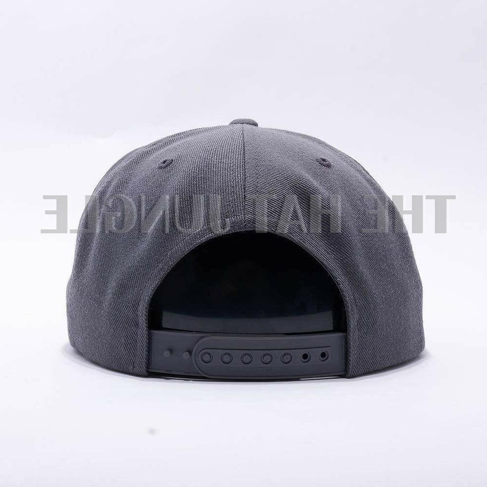Yupoong Snapback 6089M Cap Wool Dark Gray