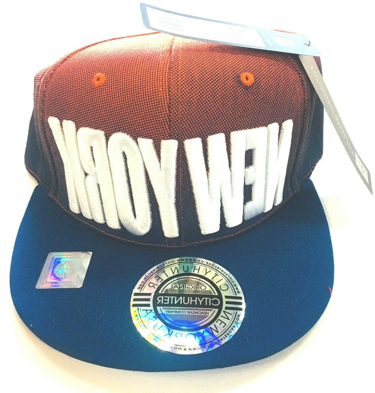 snapback new york multicolor baseball hat embroidered