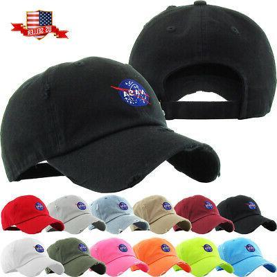 nasa insignia dad hat baseball cap unconstructed