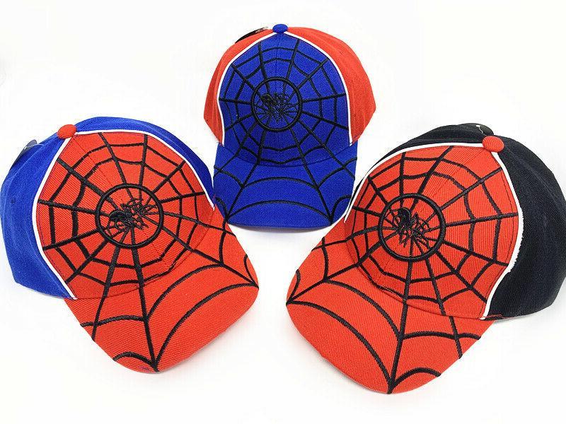 spider kids boys girls baseball cap adjustable