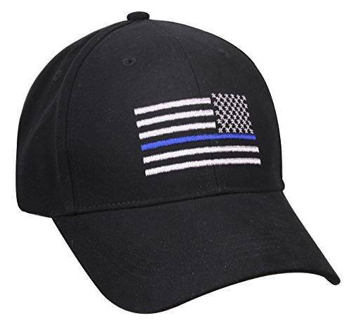 Thin Blue Line Flag Low Profile Police Baseball Cap Law Enfo