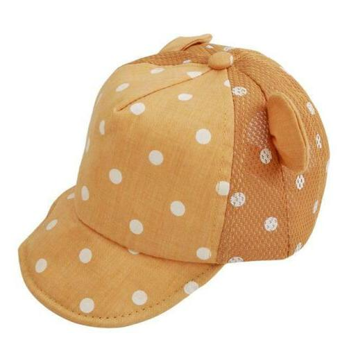Toddler Girl Boy Little Ear Cap Beach