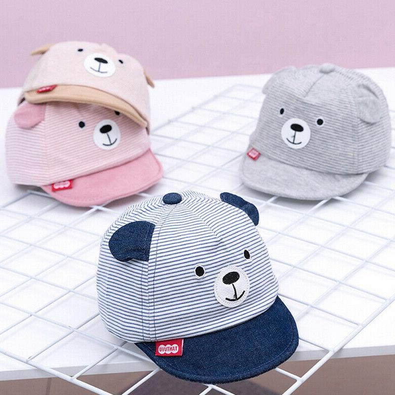 Toddler Infant Kids Baby Cute Ears Summer Baseball Cap Boys