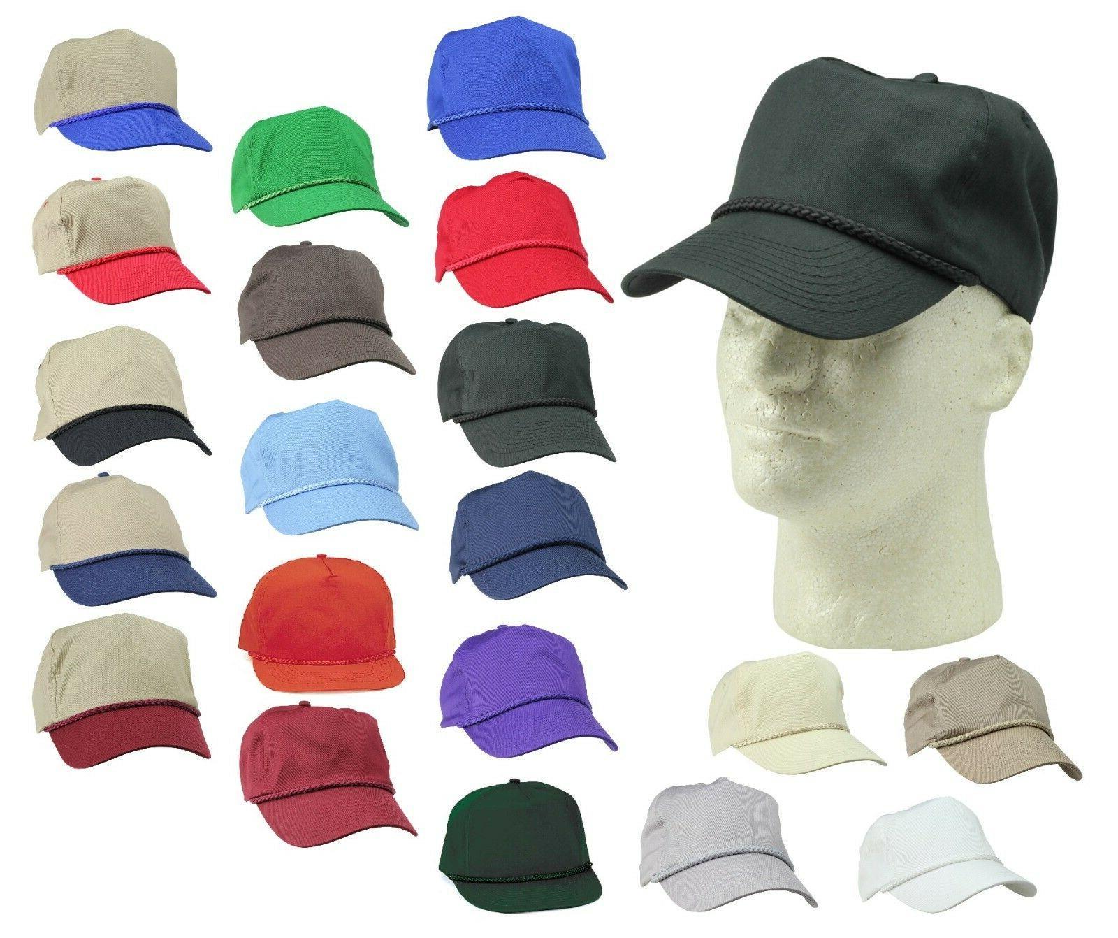 DALIX Trucker Baseball Caps Braid Snapback Hats Hat Cap Plai