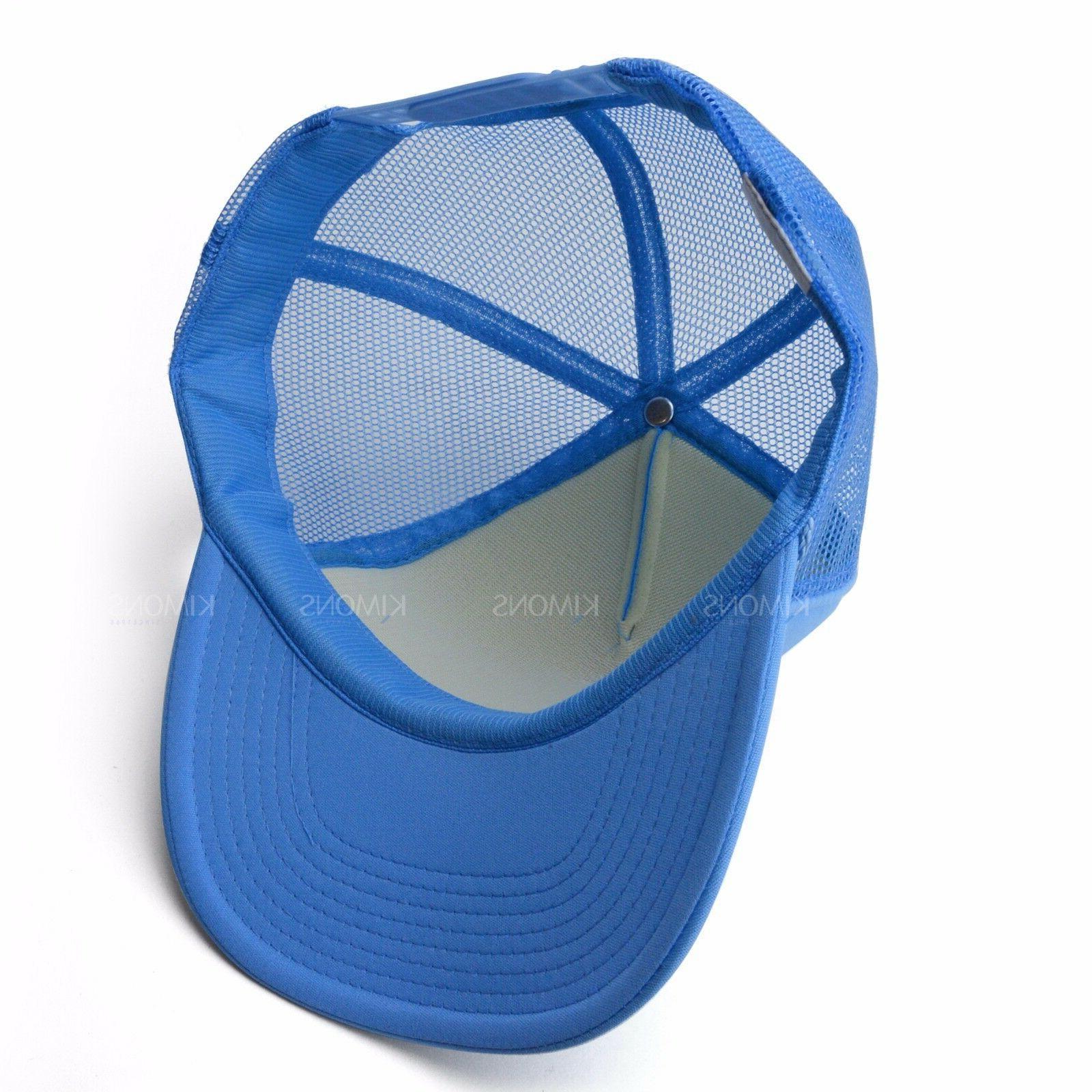 Trucker Baseball Adjustable Solid Hats Flat