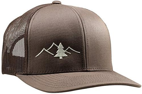 trucker hat great outdoors collection by brown